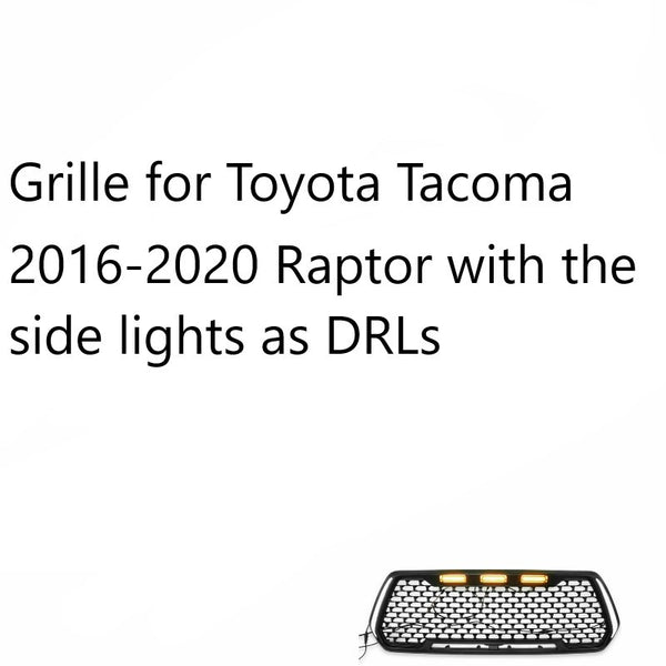 Front Grille Led Lights Sensor Cover for Toyota Tacoma 2016-2019 and 4 Runner 2014-2019