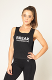 V3 Apparel womens motivational break the stereotype workout gym muscle cropped tank top