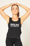 V3 Apparel womens inspirational break the stereotype workout gym muscle cropped tank top
