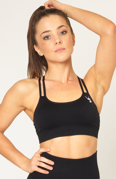 Contour Seamless Sports Bra - Black