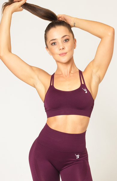 Contour Seamless Sports Bra - Wine