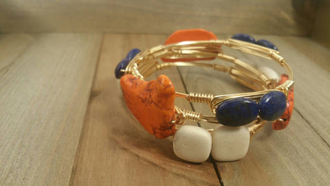 Auburn GameDay set of 3 bangle bracelets