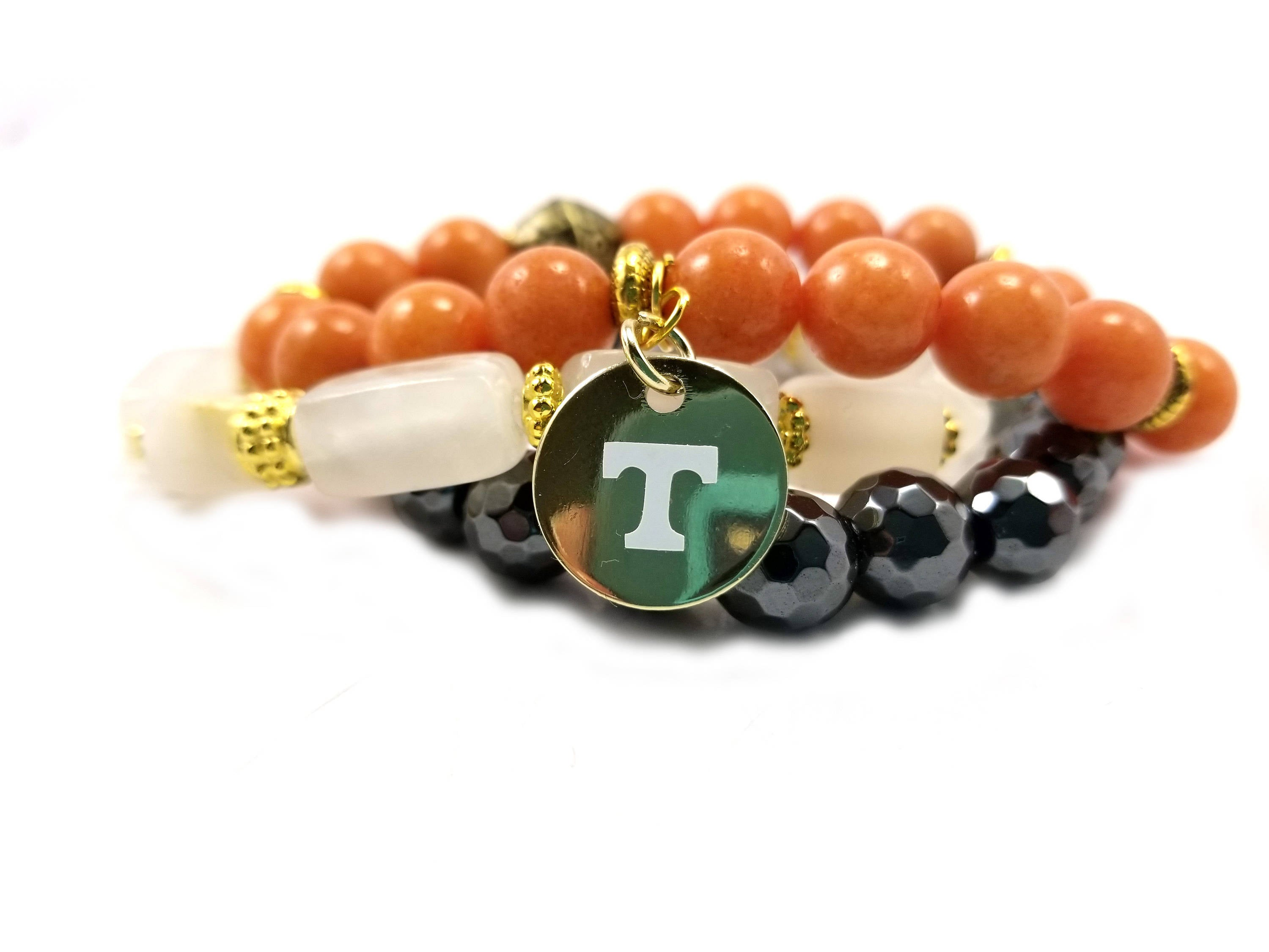 University of Tennessee beaded bracelet, Vols bracelets