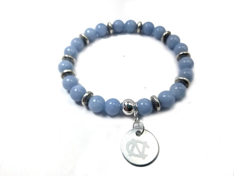 North Carolina beaded bracelet , UNC jewelry, Tar Heel bracelet, UNC Tar Heel beaded bracelets, UNC game day, University of North Carolina
