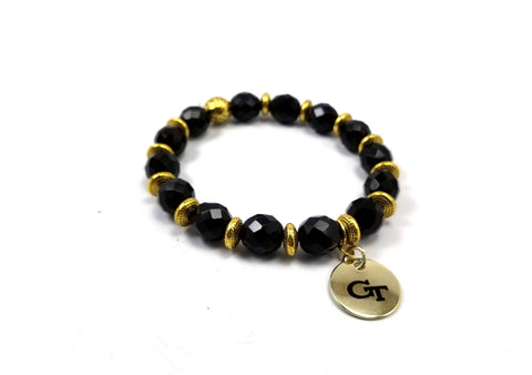 Georgia Tech beaded bracelet