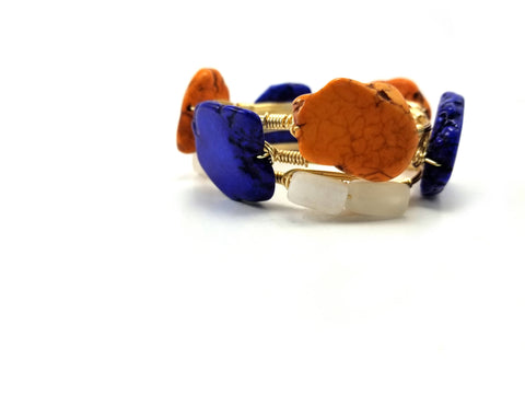 University of Florida gator GameDay set of 3 bangle bracelets