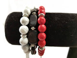 University of Georgia beaded bracelet, Bulldog bracelets, UGA gameday jewelry, Dawg jewelry, Georgia bracelets, stretch bracelet
