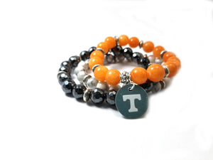 University of Tennessee beaded bracelet set of 3 stretch bracelets