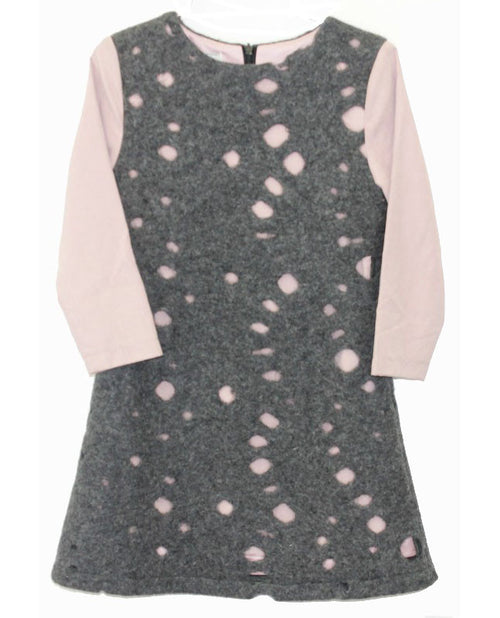 MeMe Gray / Pink Knit Dress