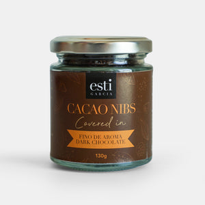Cacao Nibs covered in fino de aroma dark chocolate 130g