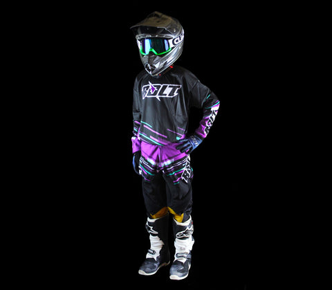 Bolt Everywear Youth Black/Purple Line
