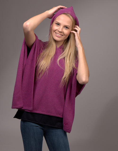 Cashmere Poncho with Hoody Potpourri