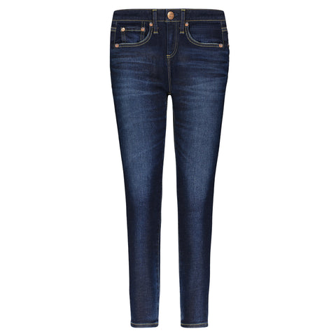 Red Card Dark Used Sideway Jean