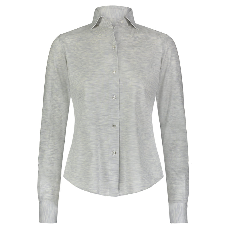 Fray Grey Long Sleeve Button Down Shirt