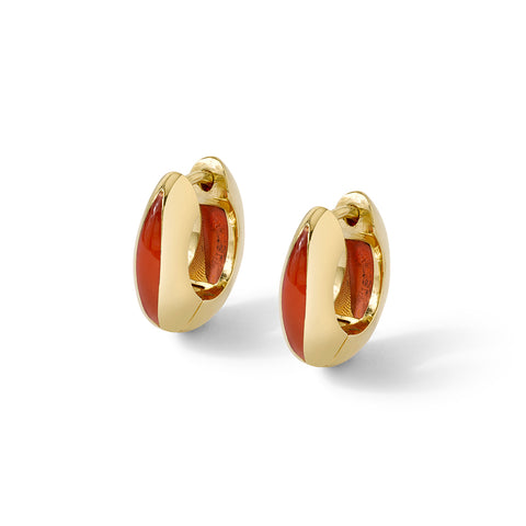 Andy Lifschutz Orange Huggie Earrings