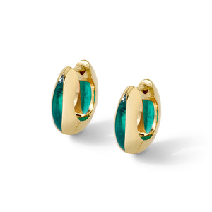 Andy Lifschutz Sura Green Huggie Earrings