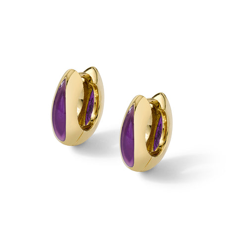Andy Lifschutz Purple Huggie Earrings