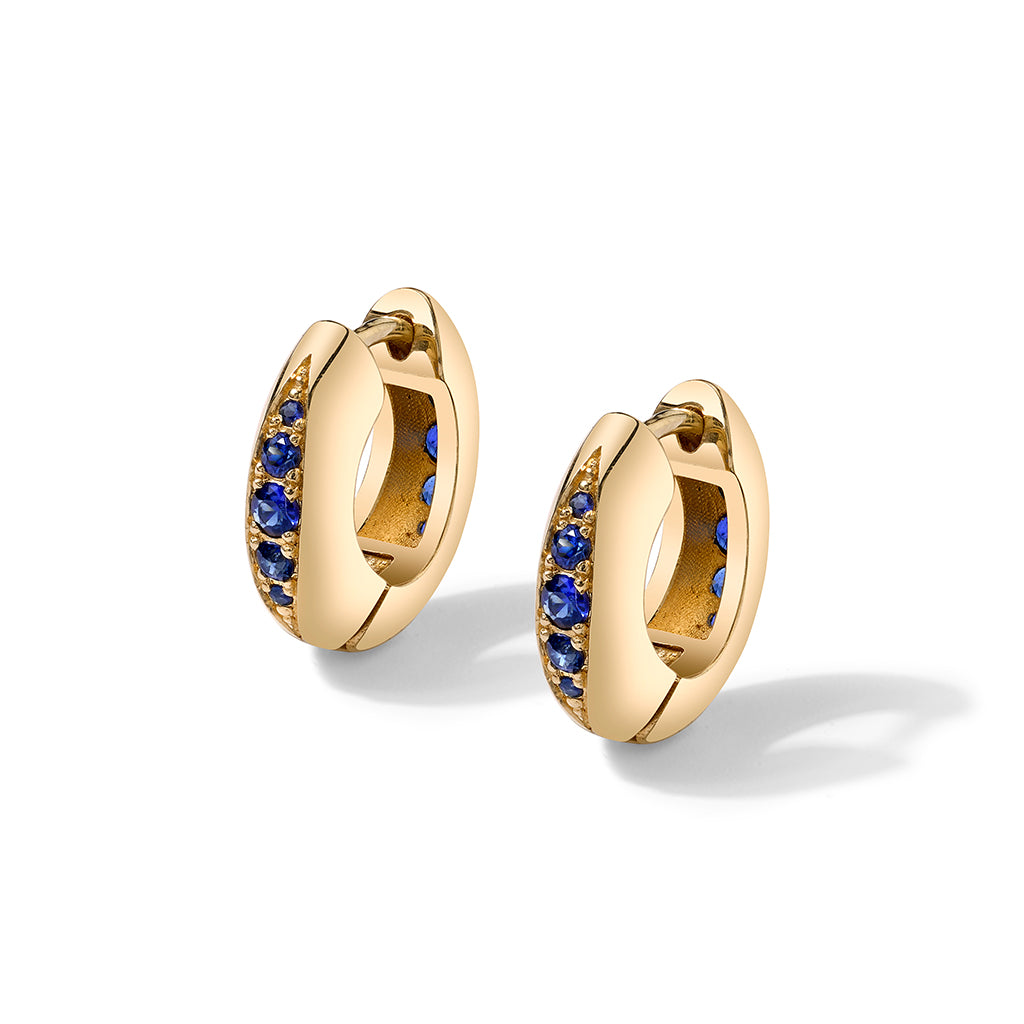 Andy Lifschutz Blue Sapphire Huggie Earrings