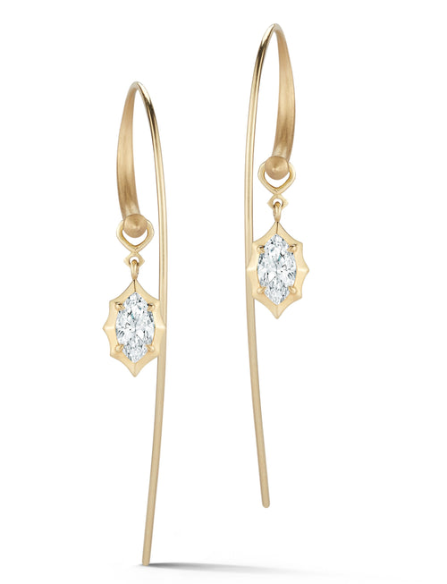 Jade Trau Maverick Large Hoops with Single Drops