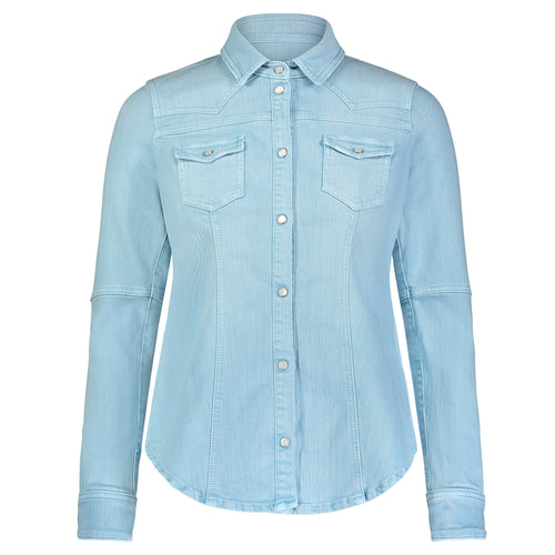 Teleria Zed Light Blue Western Shirt