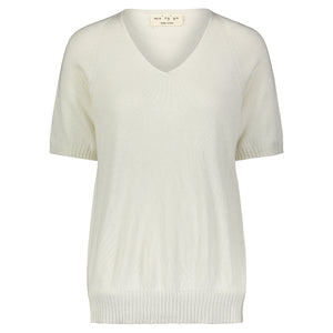 Maryya Short Sleeve V Neck Sweater