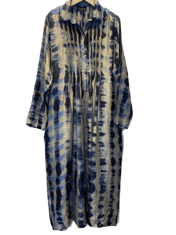 Silk Button front printed dress