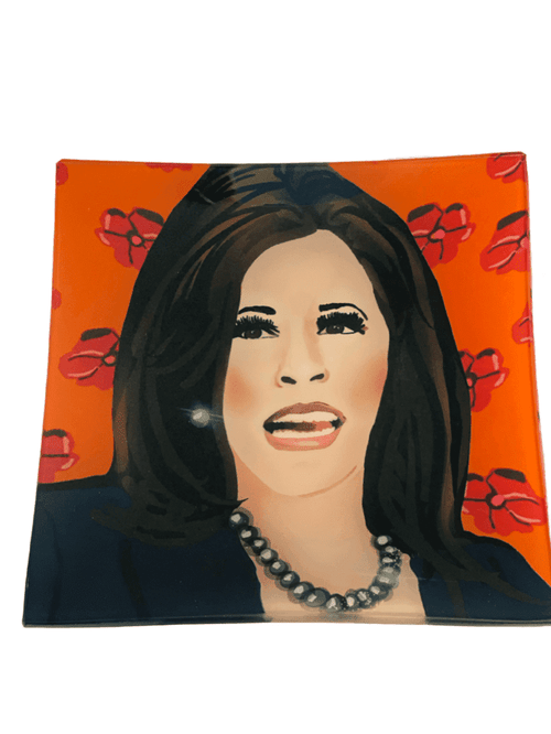 Lisa Bayer Trinket Trays Kamala Harris