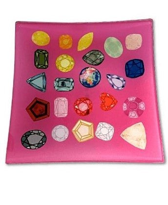 Lisa Bayer Trinket Trays  Pink Diamond Tray