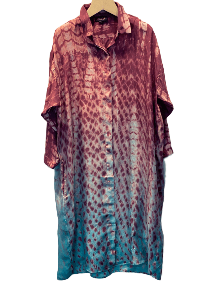 Raga Silk Printed Dress LuxCouture