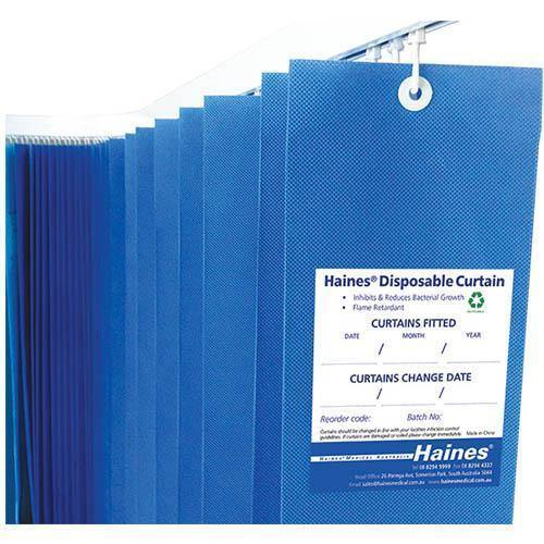 Curtain Disposable Drop Blue - Medsales
