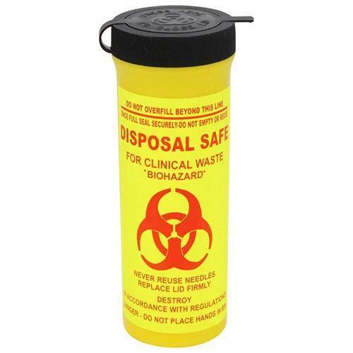 Sharps Container 200ml Cylinder Fit/Pack - Each - Medsales