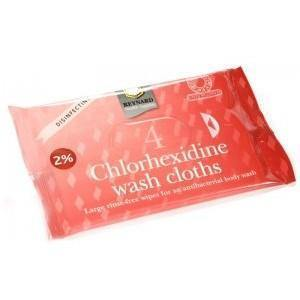 Wipes 2% Chlorhexidine Wash Cloths Pkt 4 - Medsales