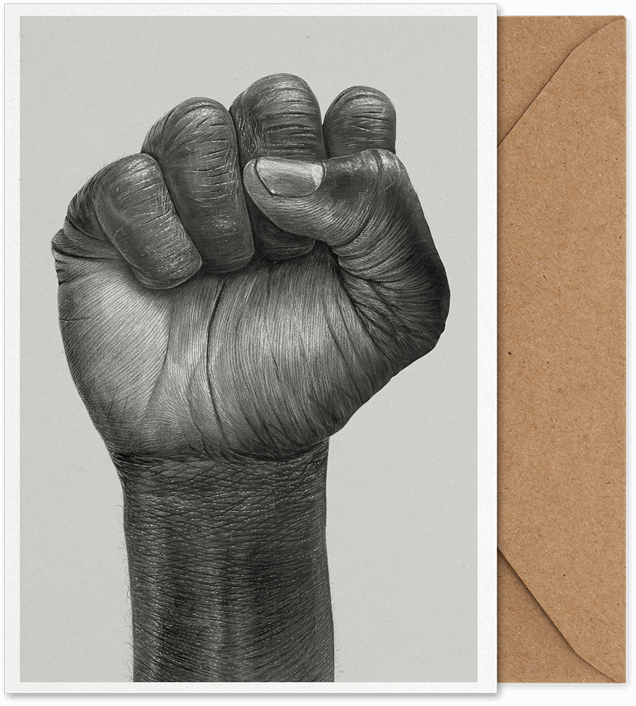 Folded Art Card A5 Raised Fist Paper Collective
