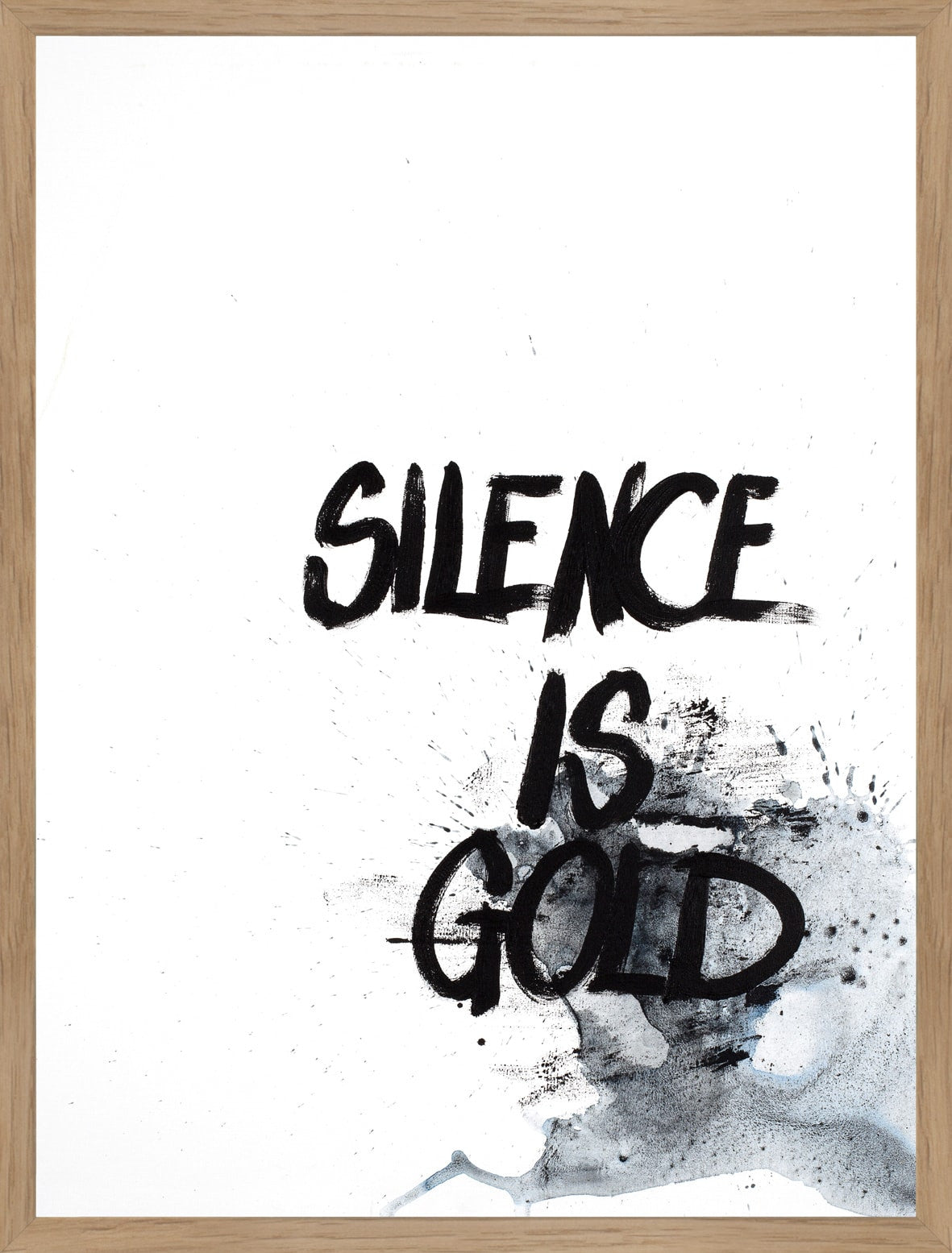 FINE ART POSTER - SILENCE IS GOLD, Malerifabrikken
