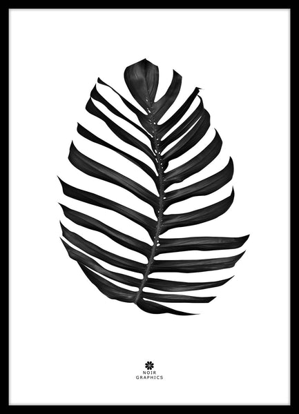 FINE ART POSTER - JUNGLE LEAF BLACK, Malerifabrikken