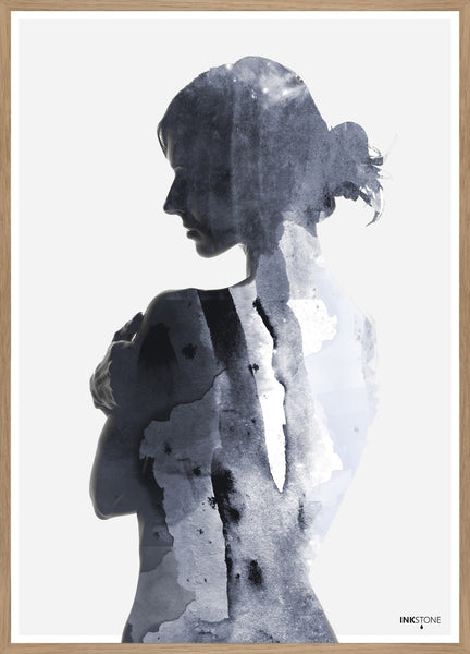 FINE ART POSTER - WOMAN IN BLUE, Malerifabrikken