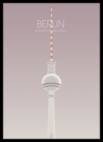 FINE ART POSTER - BERLIN TV TOWER, Malerifabrikken