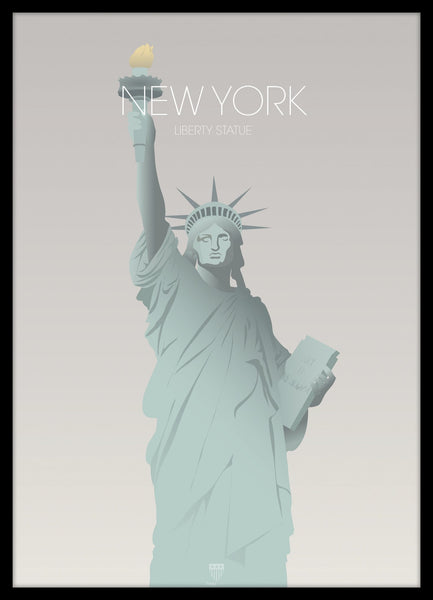 FINE ART POSTER - NEW YORK LIBERTY STATUE , 50 X 70 CM