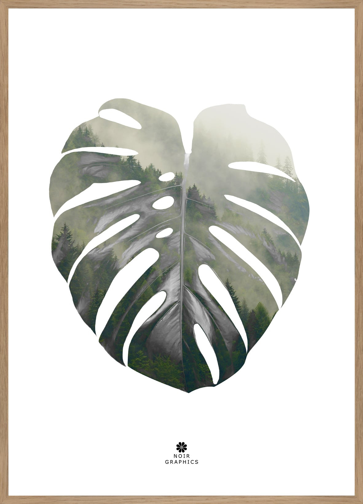 FINE ART POSTER - MONSTERA LEAF, Malerifabrikken