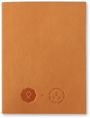 Lightbrown Notebook Notizbuch Hellbraun