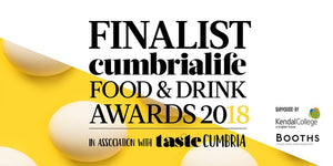 Nominated Best Food Producer for Cumbria Life Food & Drink Awards 2018