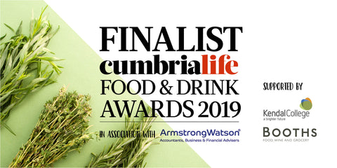 We're finalists for the Cumbria Life Food & Drink Awards!