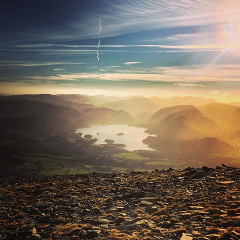 View from Skiddaw - overlooking Keswick & Derwent Water