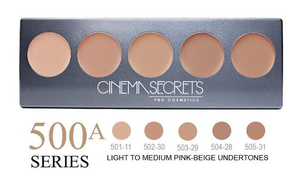 Cinema Secrets 500A Series Ultimate Foundation 5-IN-1 PRO Palette