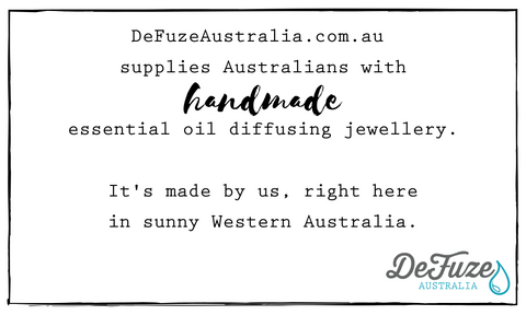 essential oil diffusing jewellery by DeFuze Australia