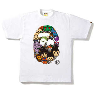 BAPE X DBZ (Dragon Ball Z) Ape Head Tee - White