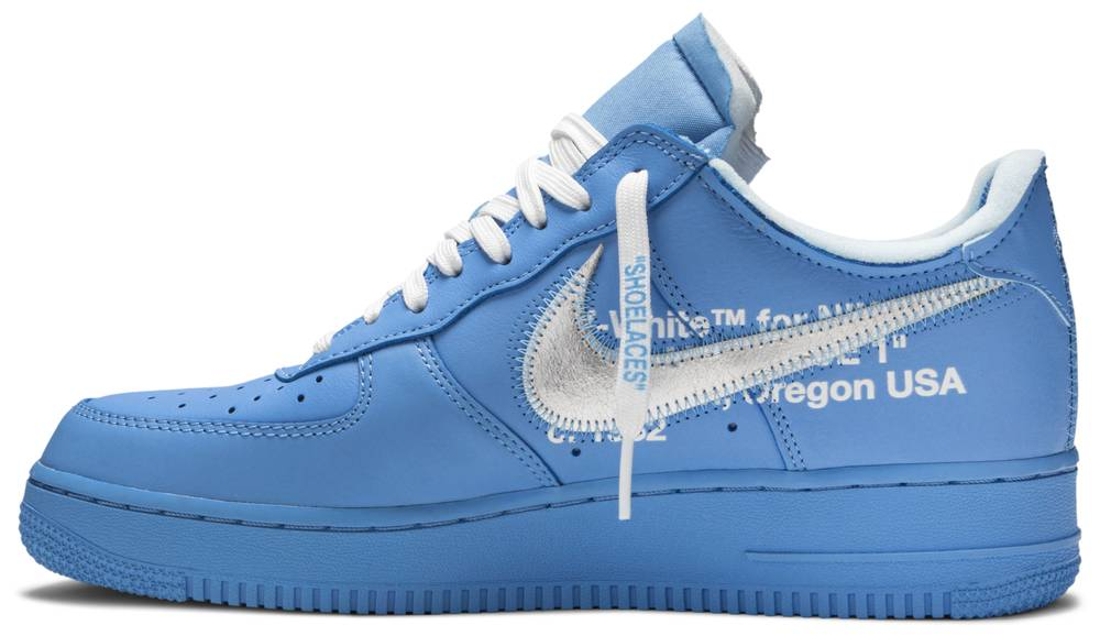Fresco Torbellino Ondular  Off-White x Nike Air Force 1 Low '07 'MCA University Blue' – Underrated  Melbourne