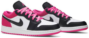Air Jordan 1 Low 'Black Active Fuchsia' (GS)
