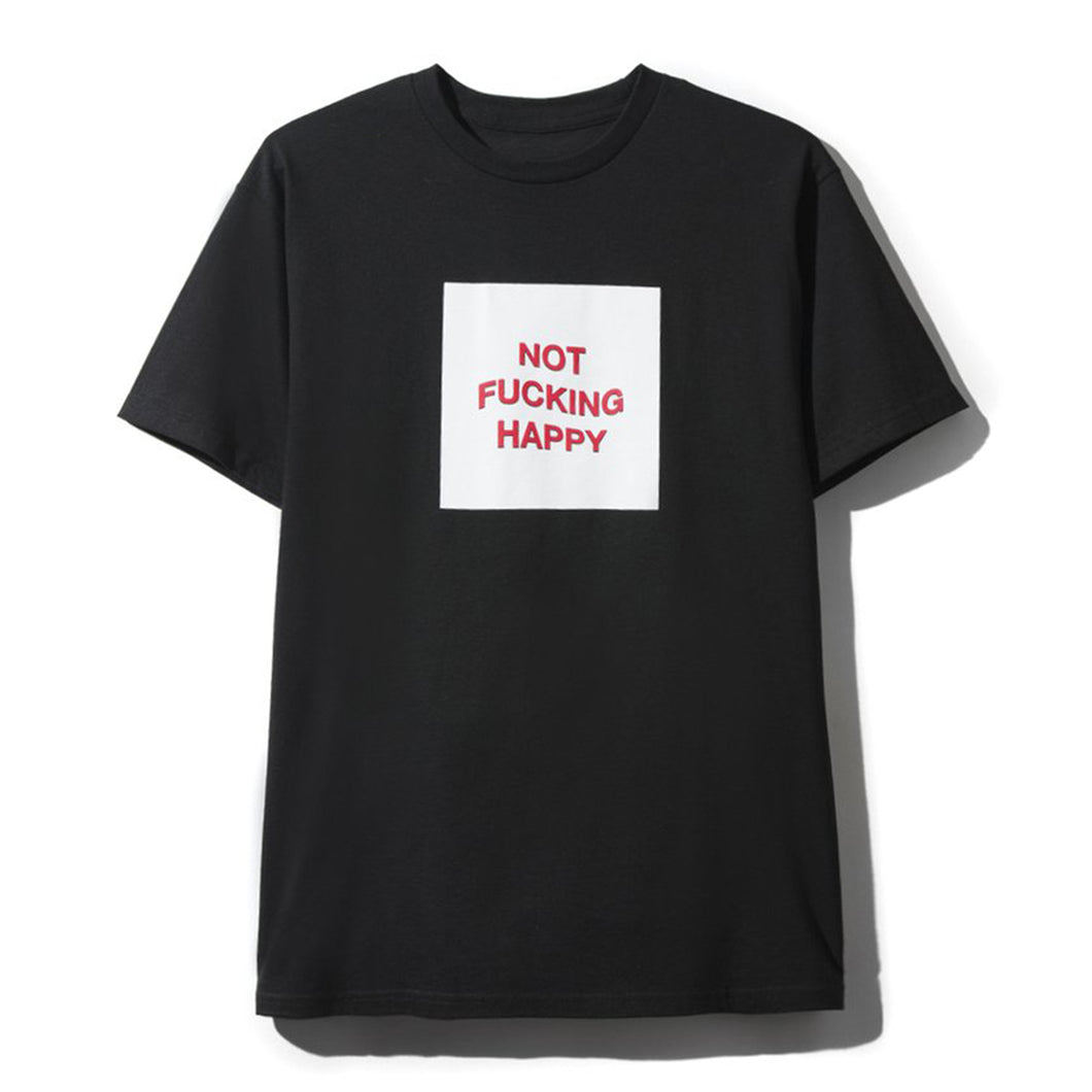 ASSC Not Fucking Happy Black Tee