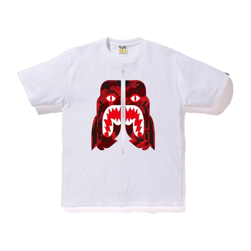BAPE Color Camo Tiger Tee - White/Red